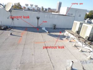 How do you know if you have a roof leak j j roofing co for Roof leaking in winter