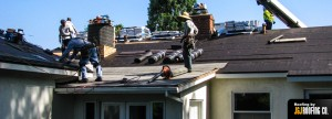 J and J Roofing a home